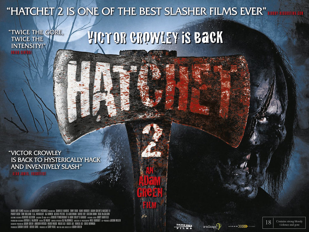 HATCHET 2 - Autographed Full Size UK Theatrical Poster