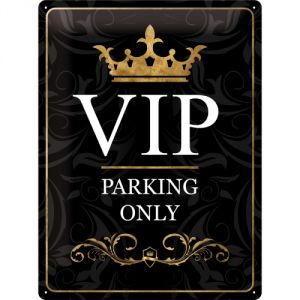 Cartello 30 x 40 cm  Vip Parking