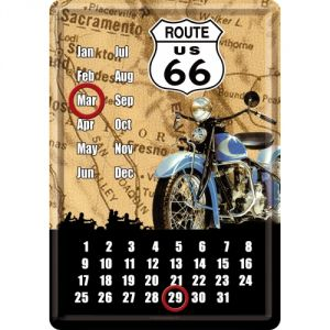 Calendario cartolina Route 66