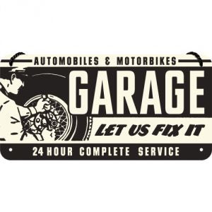Cartello con filo GARAGE