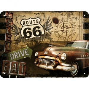 Cartello 15x20 Route 66