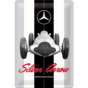 Cartello 20x30 Mercedes-Benz - Silver Arrow