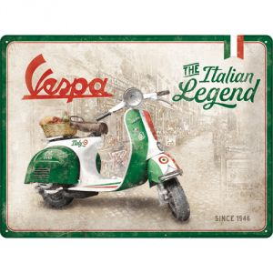 Cartello 30 x 40 cm Vespa - Italian Legend