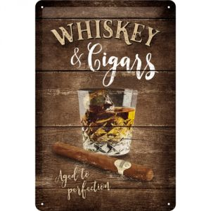 Cartello 20x30 Whisky & Cigars
