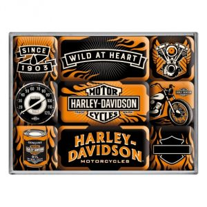 Set 9 Magneti HARLEY Wild at Hearth