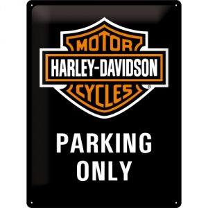 Cartello 30 x 40 cm Harley Parking only