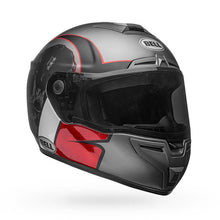 Bell SRT  Hart Luck Helmet:  Charcoal/White/Red