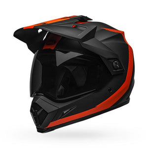 Bell MX-9 Adventure Mips Solid Helmet: Matte Black/Orange