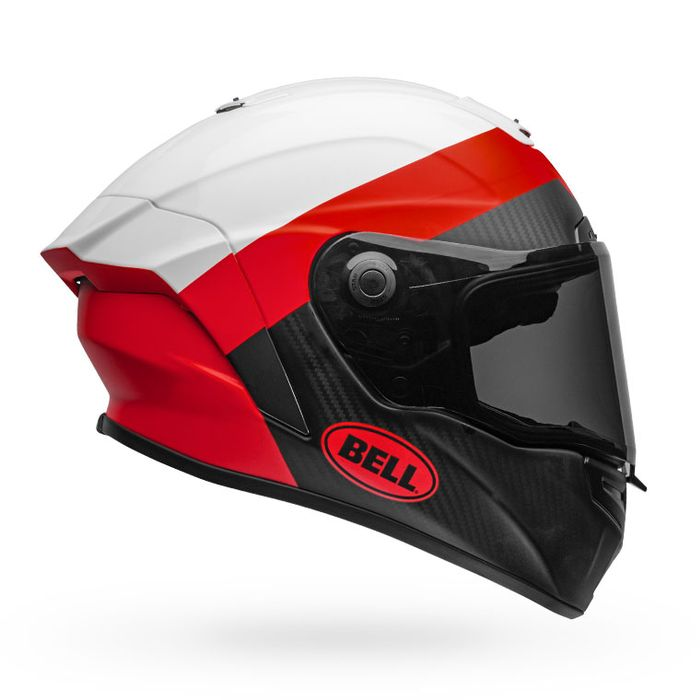 Bell Race Star Solid Helmet:  White/Red