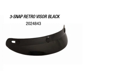 3 SNAP RETRO VISOR BLACK