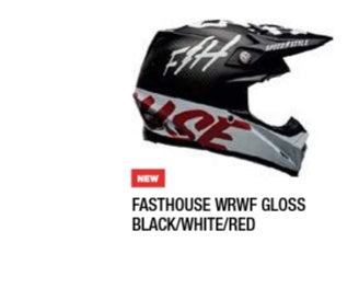 FASTHOUSE WRWF GLOSS BLACK/WHITE/RE
