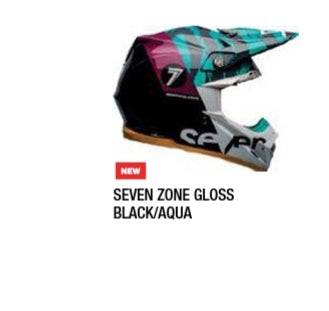 SEVEN ZONE GLOSS/BLACK/AQUA