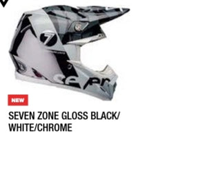 SEVEN ZONE GLOSS BLACK/WHITE/CHROME