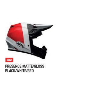 PRESENCE MATTE/GLOSS BLACK/WHITE/RED