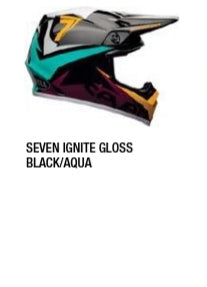 SEVEN IGNITE GLOSS BLACK/AQUA