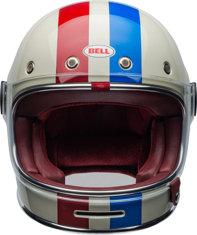 Bell Bullitt Commande Gloss Vintage White Red Blue