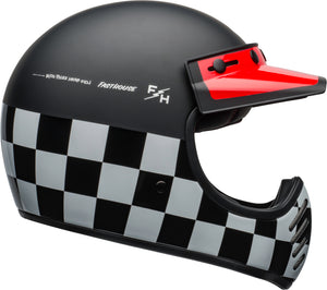 Bell Moto-3 Checkers Matte Gloss Black White