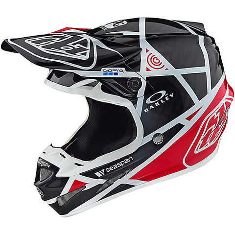 Casco TLD SE4 Carbon Metric BLACK/RED in fibra di carbonio ultra leggero -