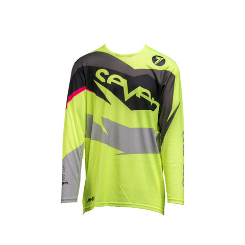 SEVEN YOUTH YOUTH IGNITE JERSEY BLACK / FLOW YELLOW