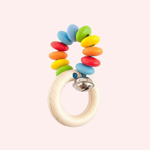 Beaded Rainbow Rattle