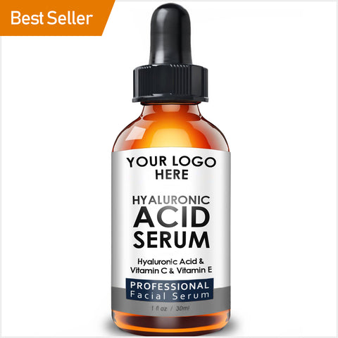 private label skin care cosmetic hyaluronic acid serum