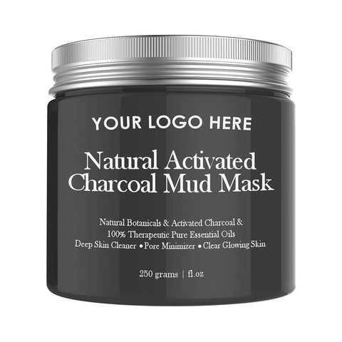 private white label skin care activated charcoal deadsea mud mask