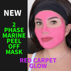 2 Phase Marine Peel Off Gel Mask - Red Carpet Glow - Pink Color