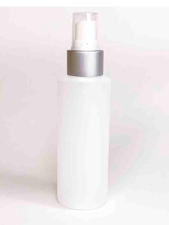 Cylinder Round HDPE White Bottle With Silver Sprayer