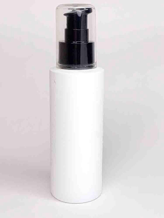 Cylinder Round HDPE White Bottle With Black Pump