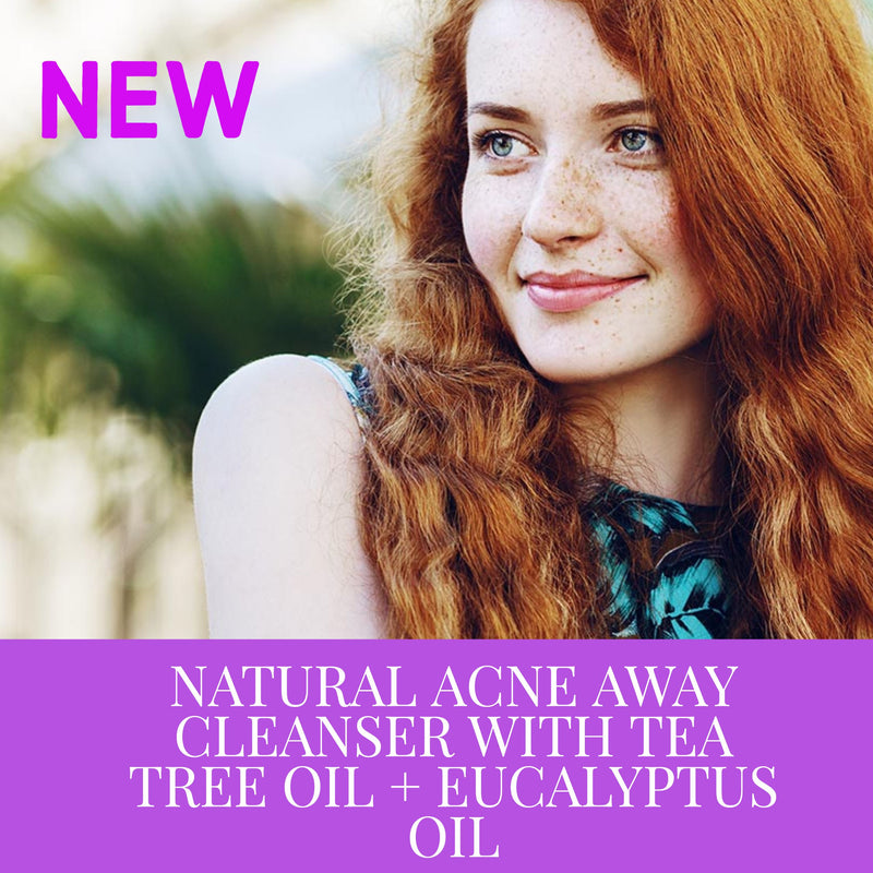 NATURAL ACNE AWAY CLEANSER WITH TEA TREE OIL + EUCALYPTUS OIL