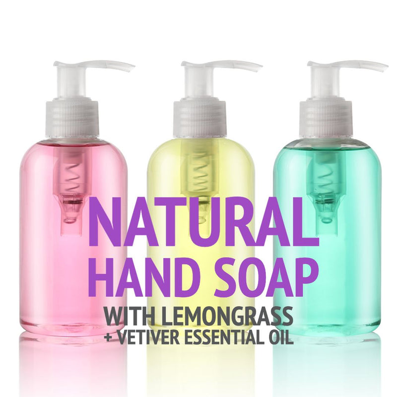 Natural Uplifting Hand Soap With Lemongrass + Vetiver Essential Oil