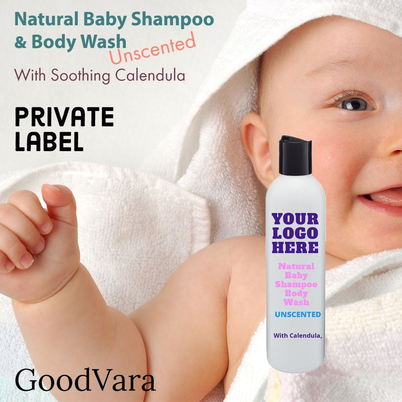 GoodVara Natural Baby Shampoo & Body Wash With Soothing Calendula Unscented