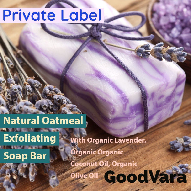 GoodVara Natural Oatmeal Exfoliating Soap Bar