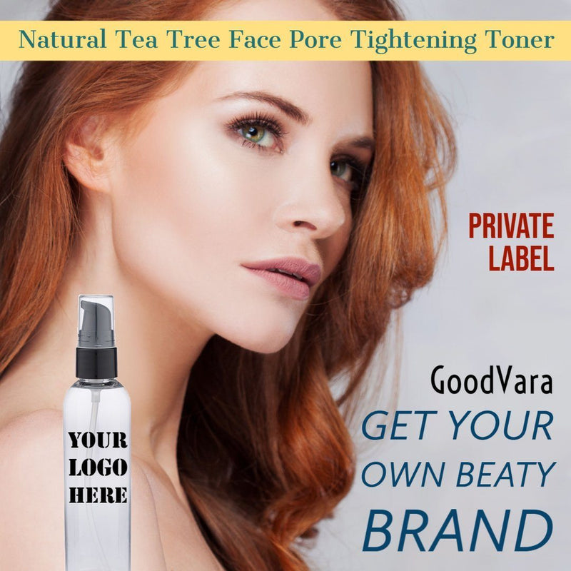 GoodVara Natural Tea Tree Face Pore Tightening Toner- Private Label