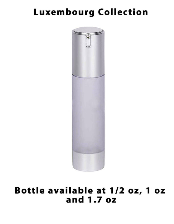 Frosted Acrylic Bottle - Matte Silver Cap (From Luxembourg Collection)