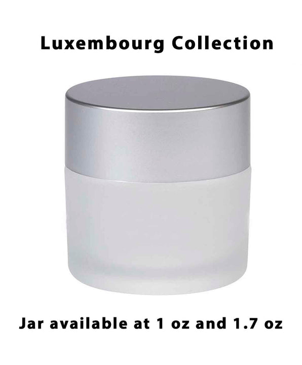 Frosted Acrylic Jar – Matte Silver Cap (From Luxembourg Collection)