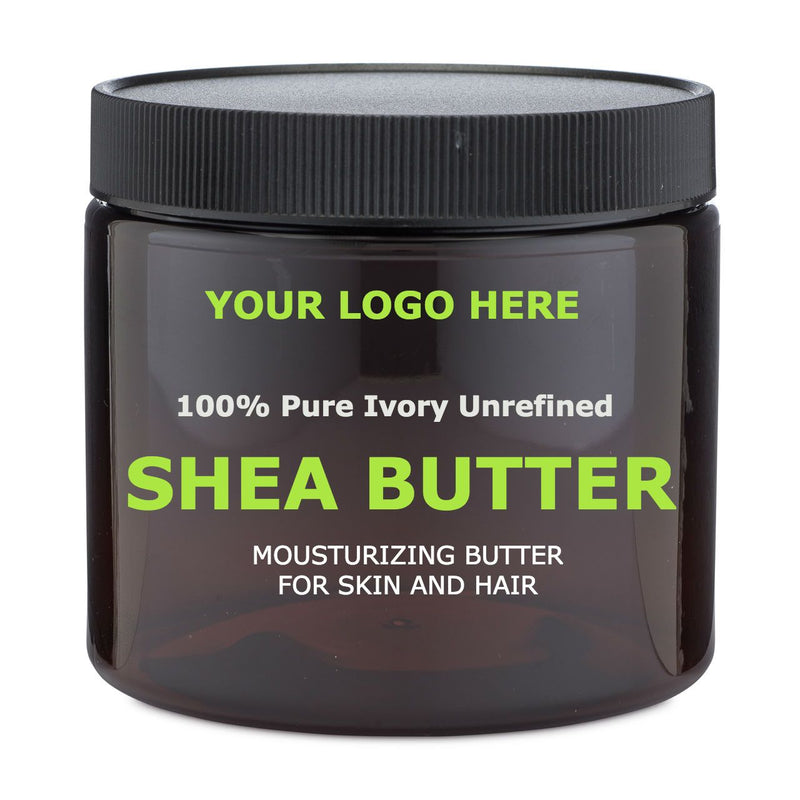 Natural 100% Shea butter- Pure- Unrefined- Ivory Color- Private Label- TOP AMAZON SELLER - Medidermlab