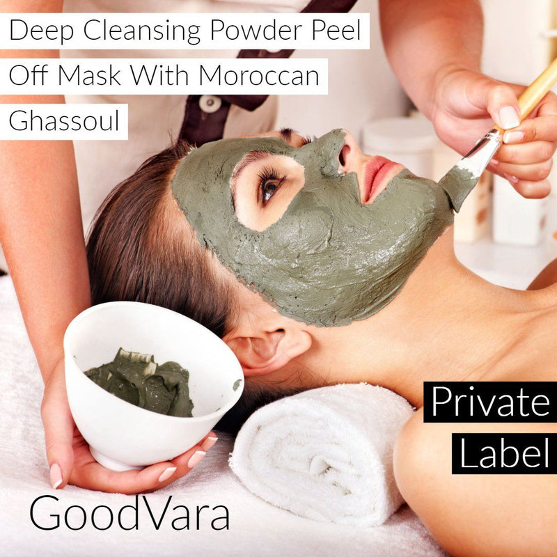 GoodVara Skin Wrap Masks: Deep Cleansing Powder Peel Off Mask With Moroccan Ghassoul