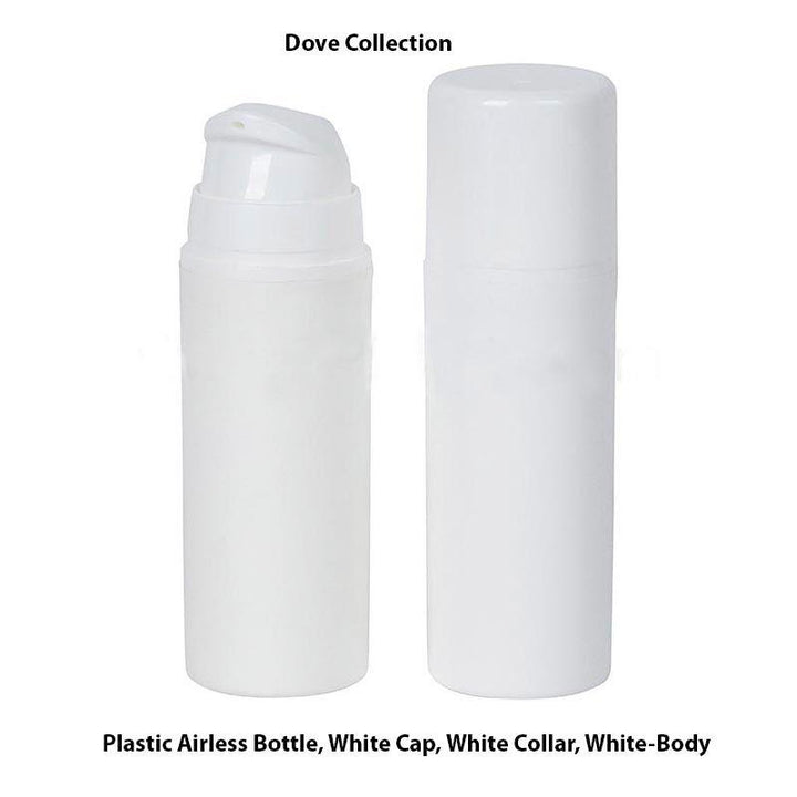 White Airless Plastic Bottle - White Cap (From Dove Collection)