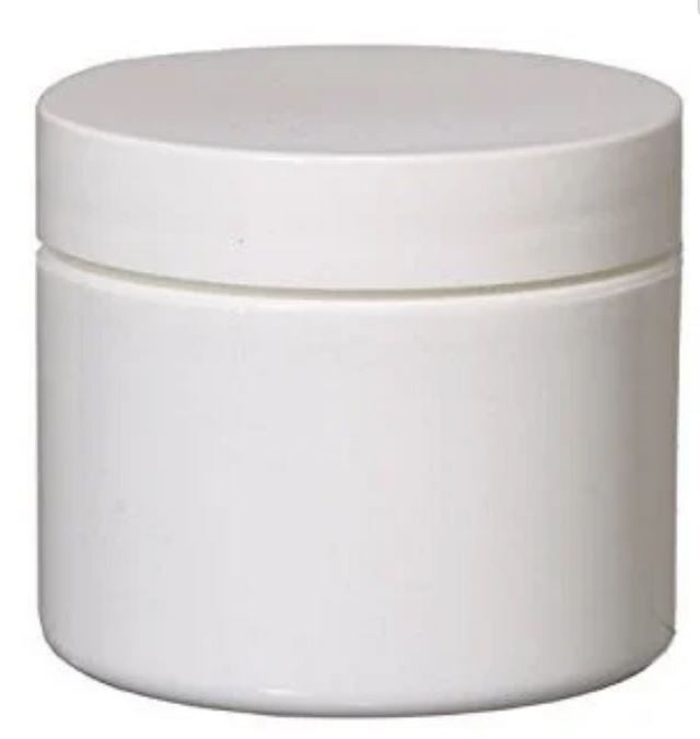 White Double Wall Plastic Jar - White Cap (From Basic Collection)