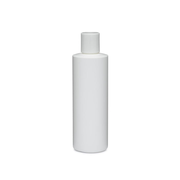 Cylinder Round HDPE White Bottle With White Disk Cap