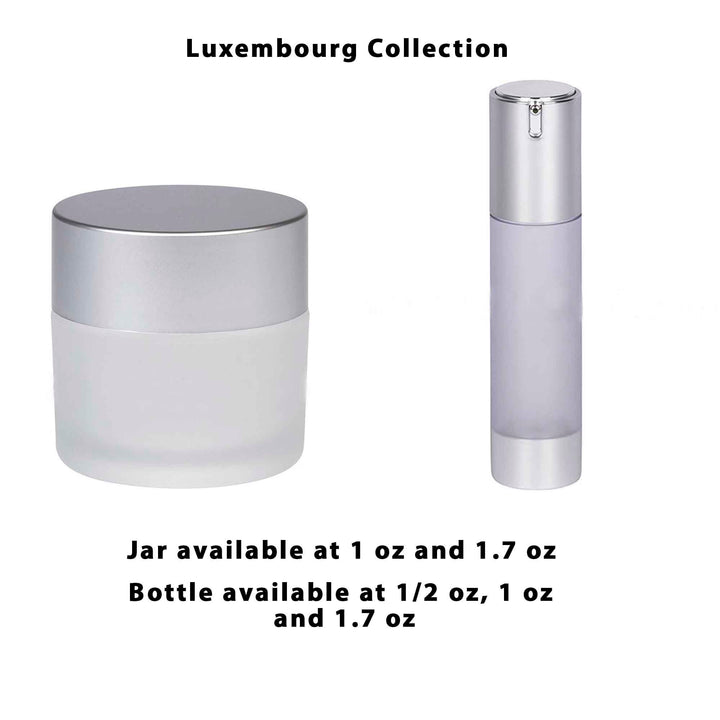 Airless Bottle - Matte Silver Cap - Frosted Body (From Luxembourg Collection)