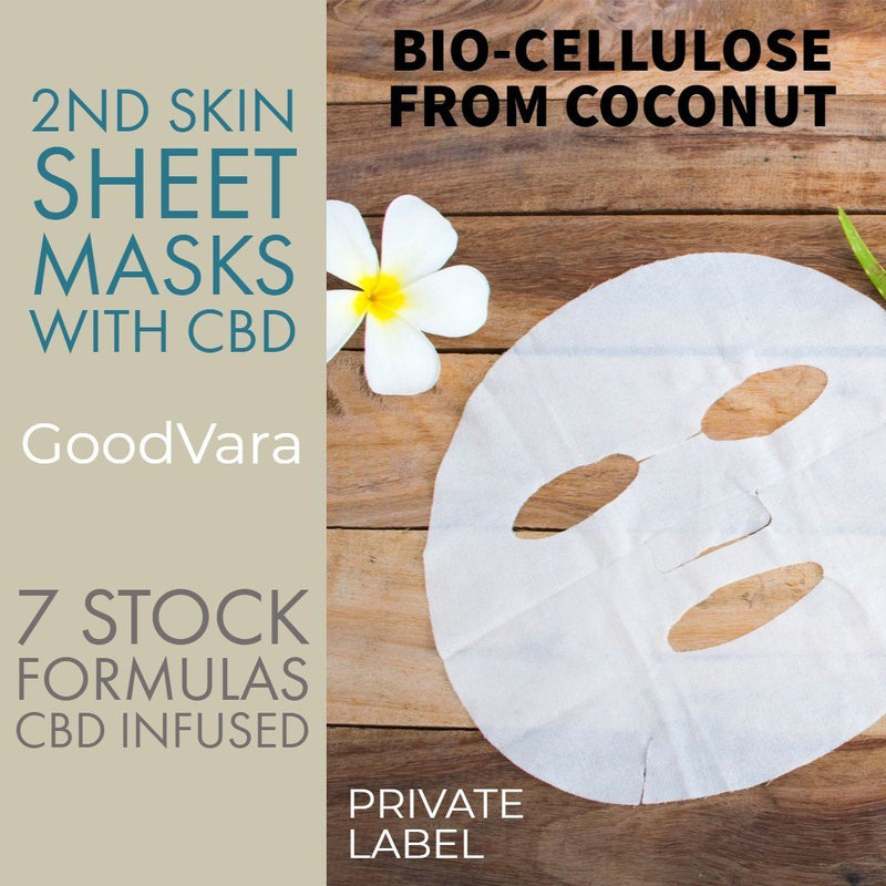 2nd Skin Sheet Face Sheet Masks With CBD
