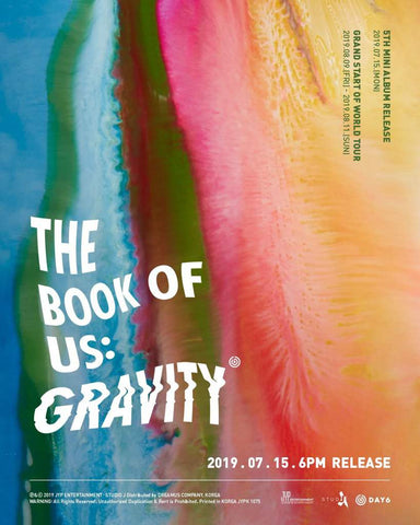 DAY6 - Vol.5 Mini Album The Book of Us : Gravity - KPOPSTORENZ