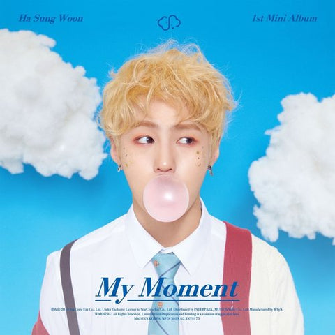 Ha Sung Woon Vol. 1 Mini Album - My Moment - KPOPSTORENZ