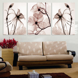 Transparent flowers painting