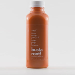 Busta root orange juice by Mountain Squeeze