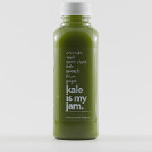 Kale is my jam green juice by Mountain Squeeze
