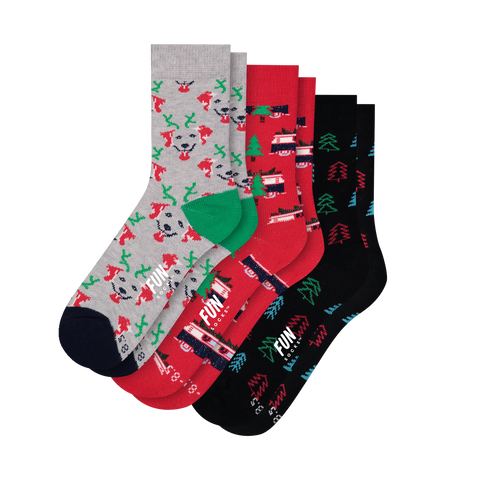 Boys & Girls Holiday Crew - Fun Socks