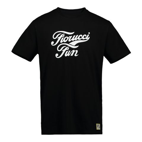 FUN X Fiorucci Black Logo Tee - Fun Socks